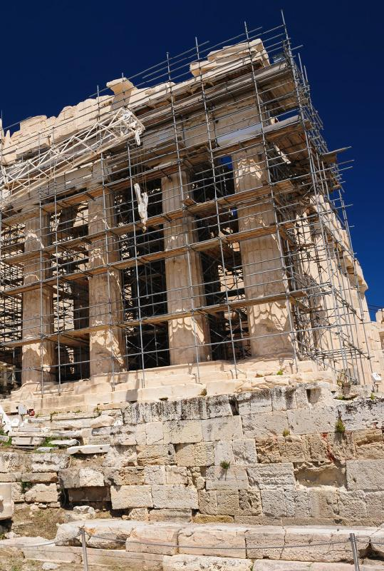 The west side of the Parthenon